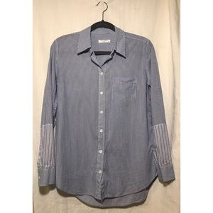 Equipment Femme Long Sleeved Striped Button Down